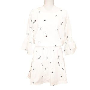 Madewell Making Faces Tiered Mini Dress NWT